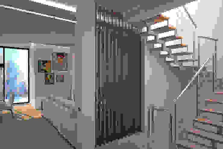 Гурьянова Наталья Pasillos, vestíbulos y escaleras de estilo moderno Madera Marrón
