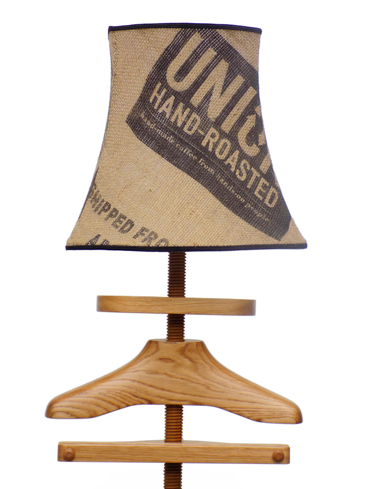 Standard Lamp Valet in oak: eclectic  by Gentleman's Valet Company, Eclectic Wood Wood effect