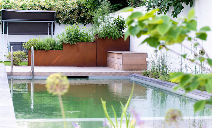 Jardin de style  par GARDOMAT - Die Gartenideenmacher, Moderne