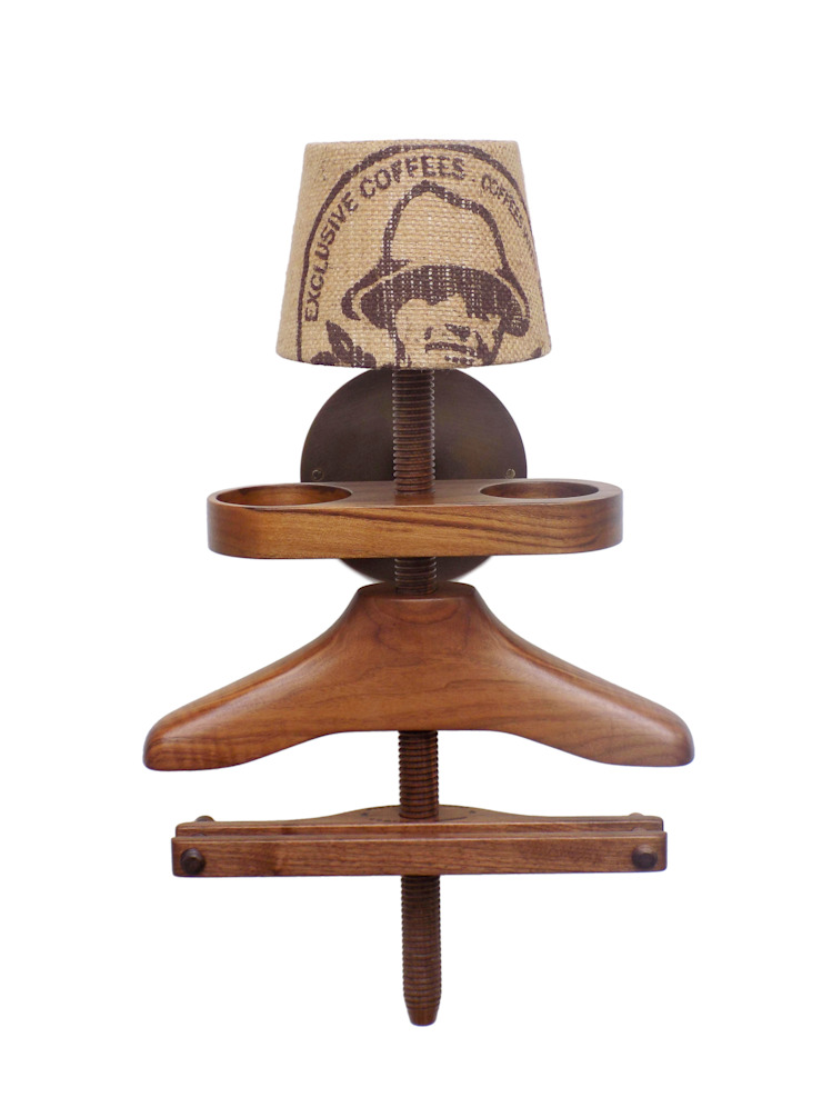 Wall Light Valet in walnut: eclectic  by Gentleman's Valet Company, Eclectic Wood Wood effect