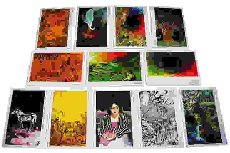 serie de postales para exposición del artista plástico Eduardo Bol Pereira. de Katherine Aguilar Moderno Papel