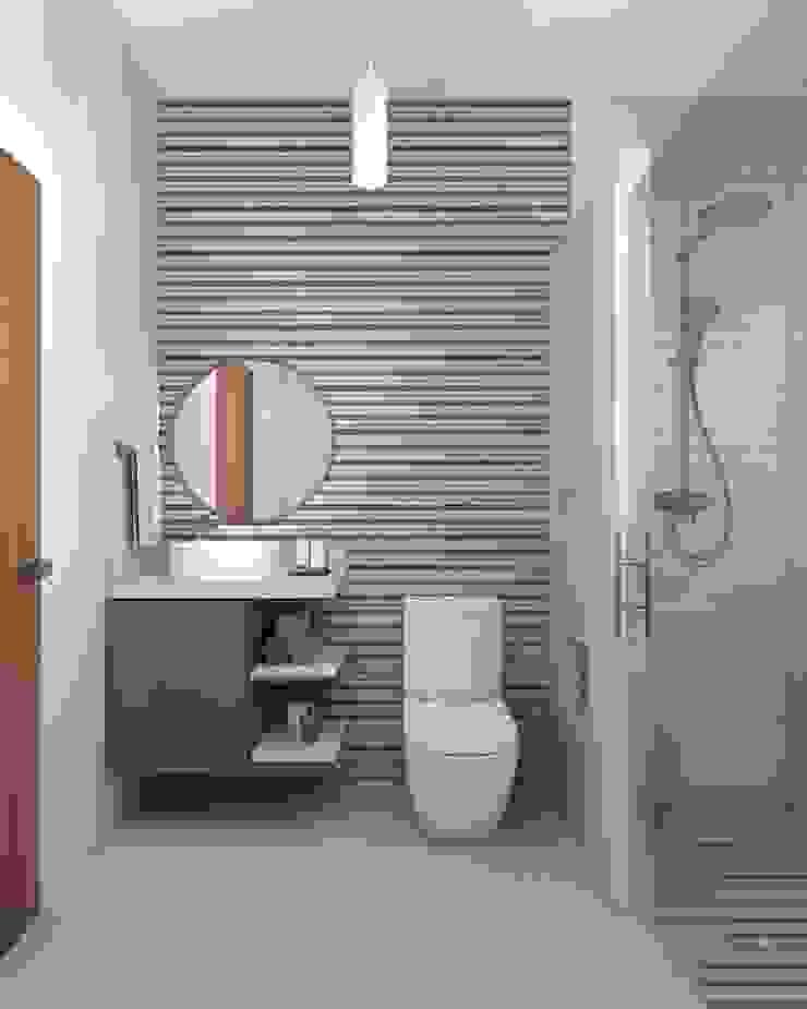 Baño Baños minimalistas de Constructora e Inmobiliaria Catarsis Minimalista Cerámico