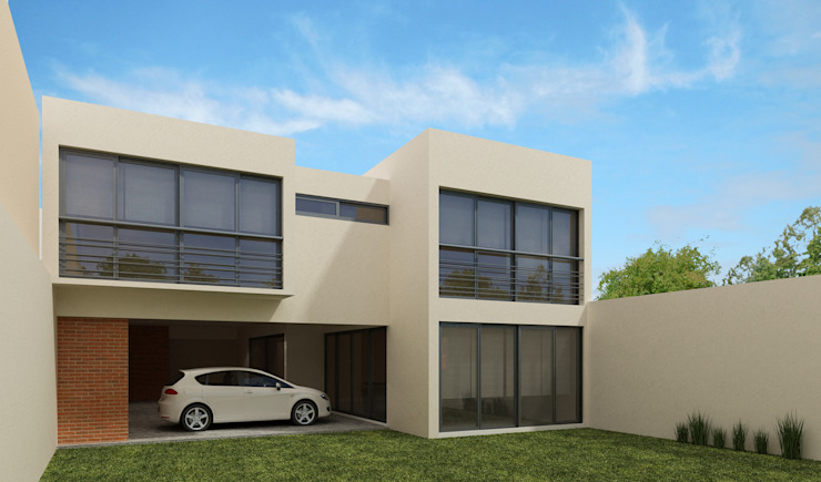 Fachada Posterior Casas minimalistas de Constructora e Inmobiliaria Catarsis Minimalista Ladrillos