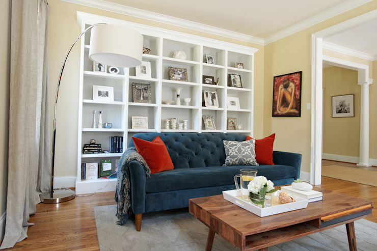 Eclectic Living Room by Larina Kase Interior Design Eclectic Solid Wood Multicolored