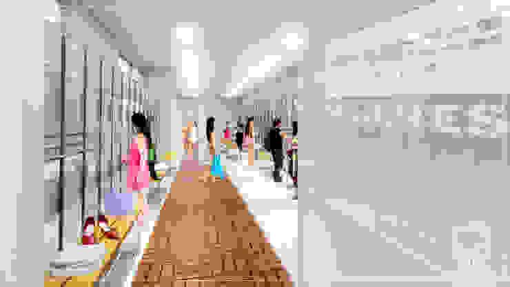 Vestidor de Mujeres Escuelas de estilo minimalista de NUV Arquitectura Minimalista