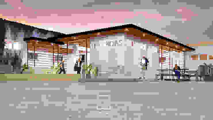 Fachada Urgencias ISSSTE Hospitales de estilo moderno de NUV Arquitectura Moderno
