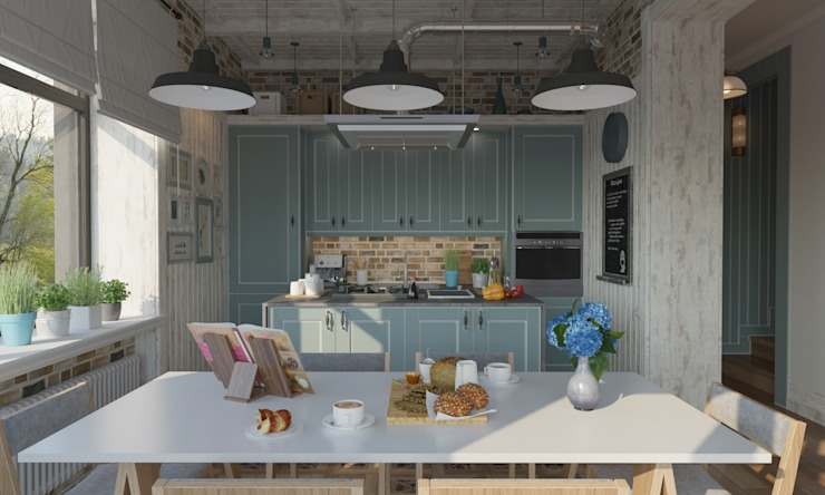 Cocinas de estilo  de Studio of Architecture and Design 'St.art', Industrial