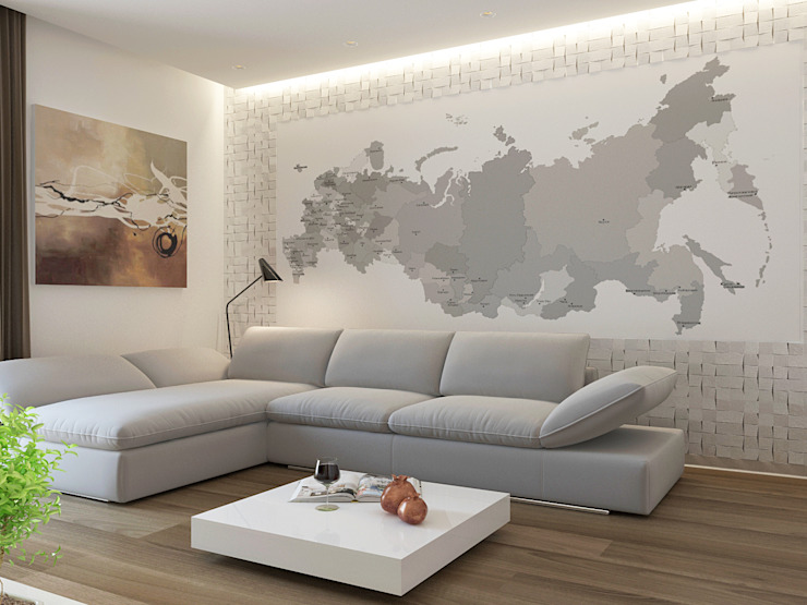 PUZZLE Modern living room Grey
