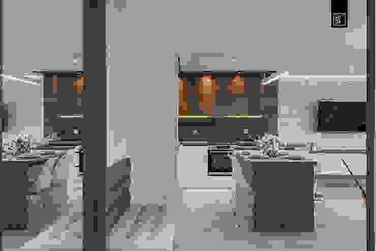 現代廚房設計點子、靈感&圖片 根據 KODO projekty i realizacje wnętrz 現代風