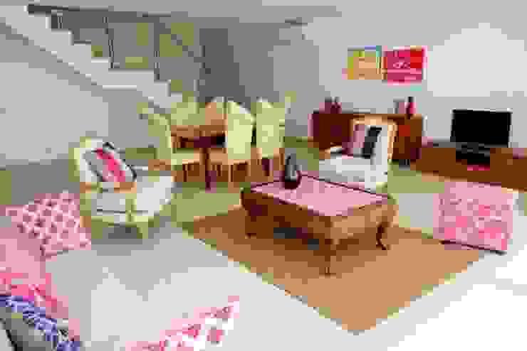 Villas Rocha 3 Salas de estar ecléticas por Atelier Ana Leonor Rocha Eclético