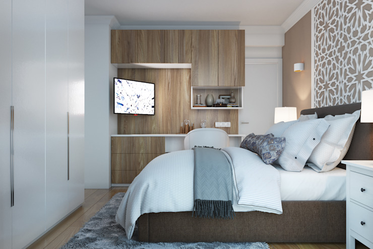 Modern style bedroom by ElenKova architecture Modern Wood-Plastic Composite