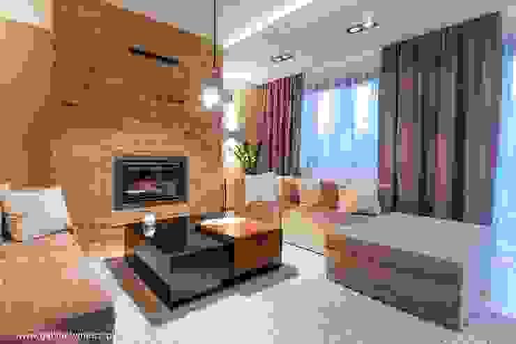 Гостиная в стиле модерн от Gabinet Wnętrz Модерн