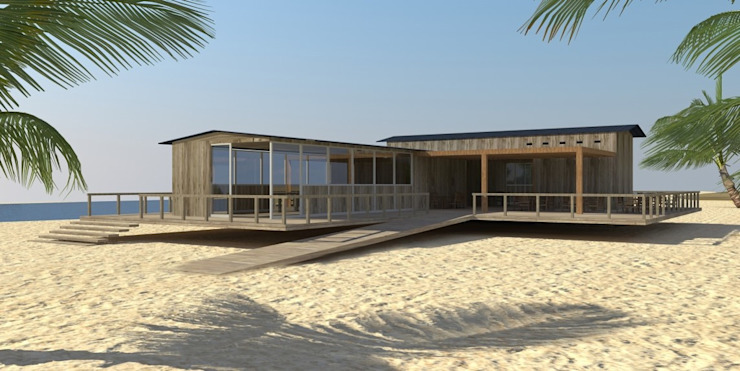 Club house de playa Casas modernas: Ideas, diseños y decoración de Nicolás Bello Moderno