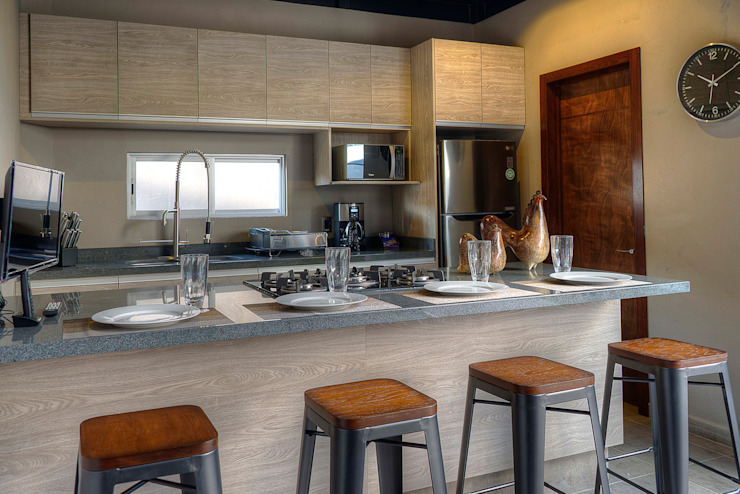 Industrial style kitchen by Con Contenedores S.A. de C.V. Industrial