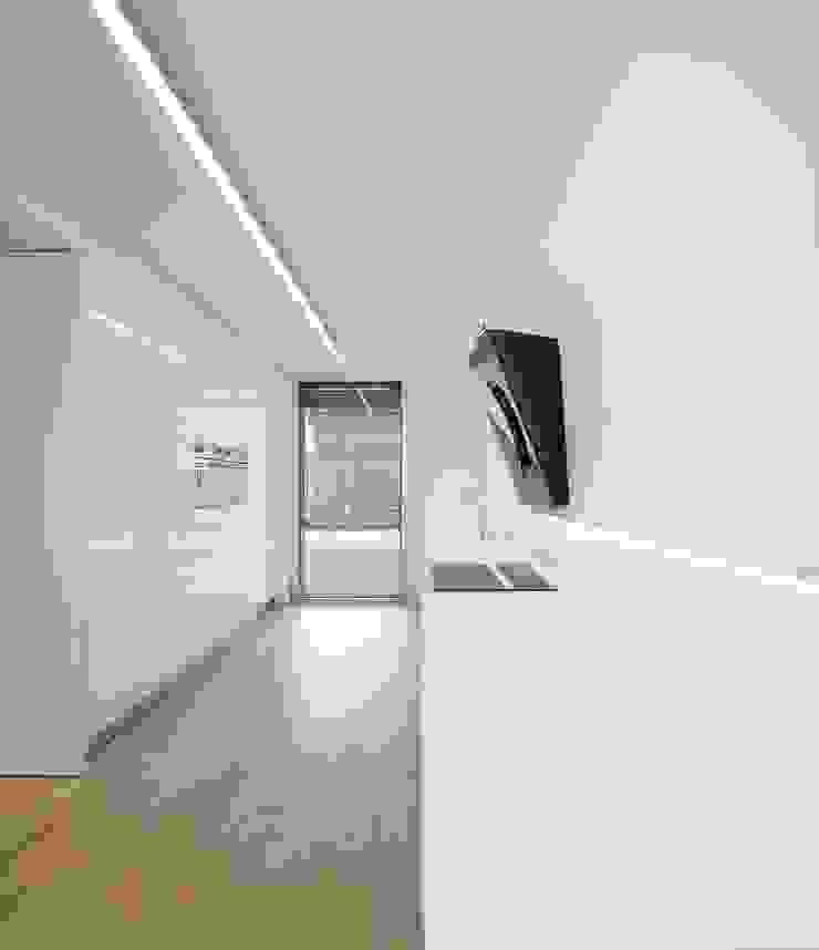 Moradia Unifamiliar na Parede. Parede 11. Espaços de trabalho minimalistas por Humberto Conde R. Arquitectura Lda Minimalista