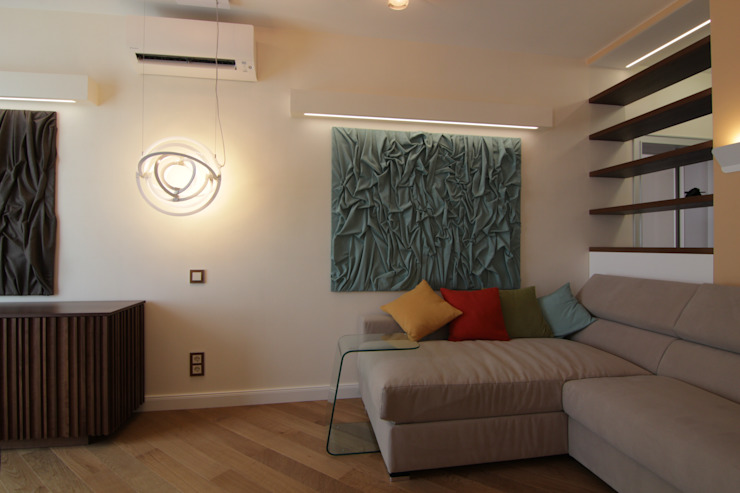 Bellarte interior studio Minimalist living room Beige