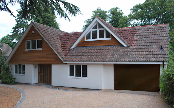 New Dormer to Bungalow Modern houses by Loft Architect Modern Wood Wood effect