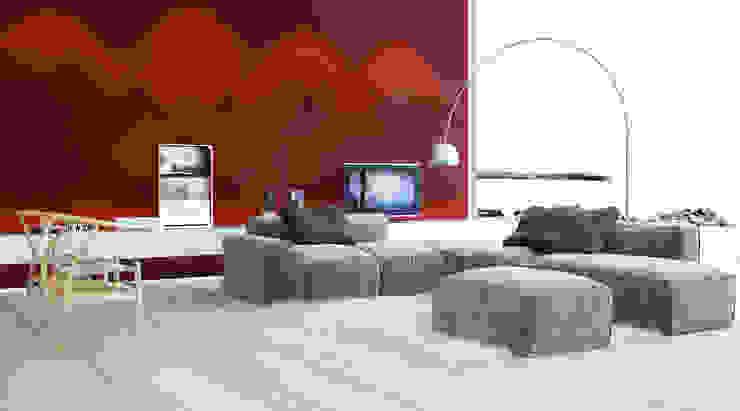 Artpanel 3D Wall Panels Ruang Keluarga Modern Red