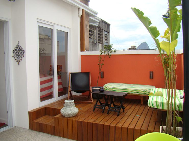 Terrace by BF Sustentabilidade, Arquitetura e Iluminação, Eclectic
