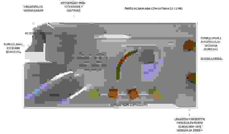 PLANTA DE DISTRIBUCIÓN de CelyGarciArquitectos c.a. Minimalista Compuestos de madera y plástico