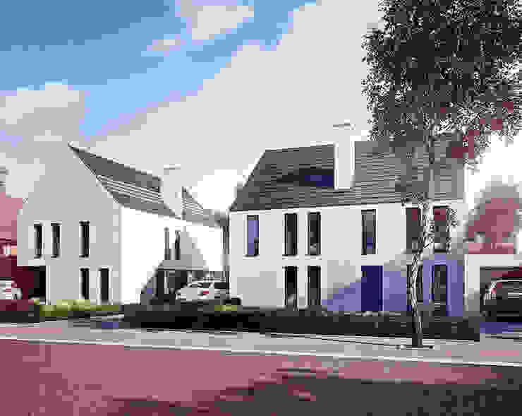 Duurzame tweekapper en vrijstaande woning Moderne huizen van FAB5+ Modern