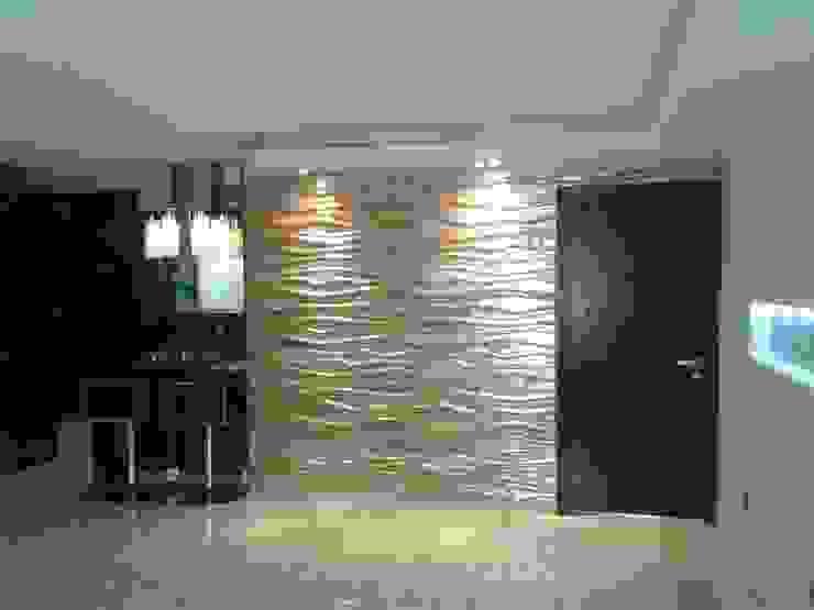 SALÓN SOCIAL Salas de estilo minimalista de CelyGarciArquitectos c.a. Minimalista Derivados de madera Transparente