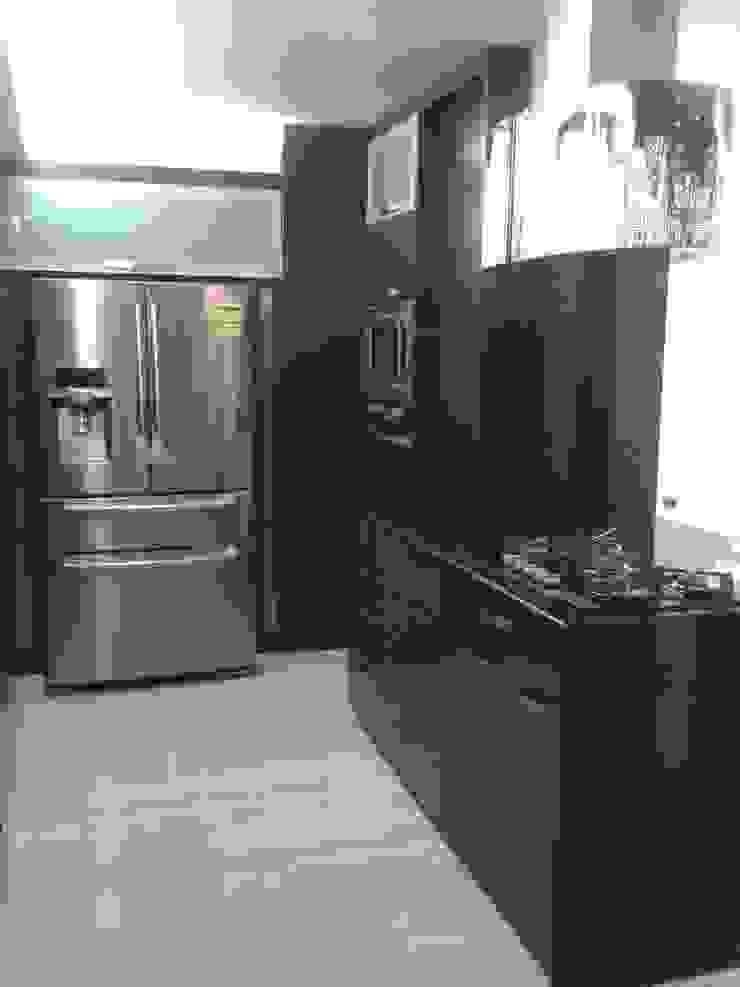 CelyGarciArquitectos Кухонні прилади Дерево Коричневий