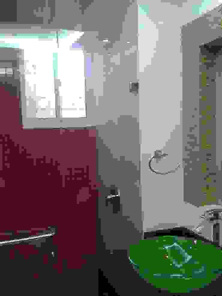 CelyGarciArquitectos Ванна кімната Скло Зелений