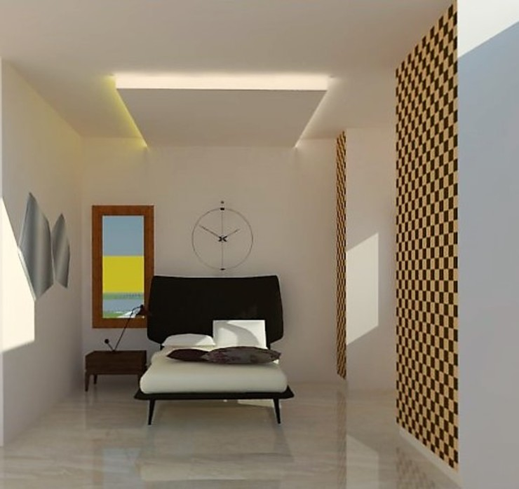 Guest Bedroom Minimalist bedroom by Urban Shaastra Minimalist