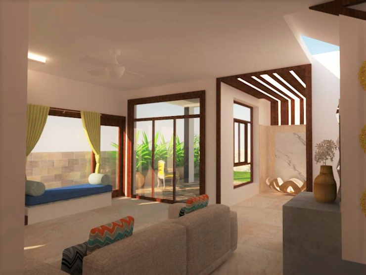 Living Area Modern living room by Urban Shaastra Modern