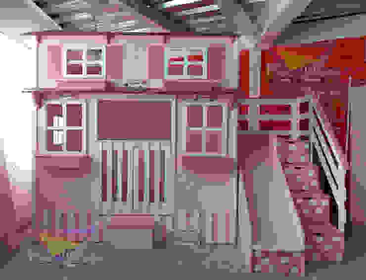 casita con cama nido de camas y literas infantiles kids world Clásico Derivados de madera Transparente