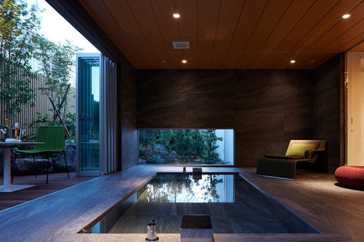 Modern Bathroom by Mアーキテクツ|高級邸宅 豪邸 注文住宅 別荘建築 LUXURY HOUSES | M-architects Modern Wood Wood effect