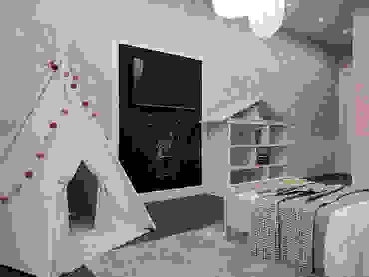 Визуализации проекта на 130 кв.м. в Сургуте Детская комната в стиле модерн от Alyona Musina Модерн