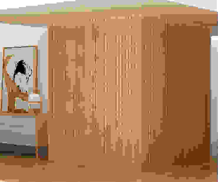 ทางเดินในเมดิเตอร์เรเนียนห้องโถงและบันได โดย Studio Transparente เมดิเตอร์เรเนียน ไม้ Wood effect