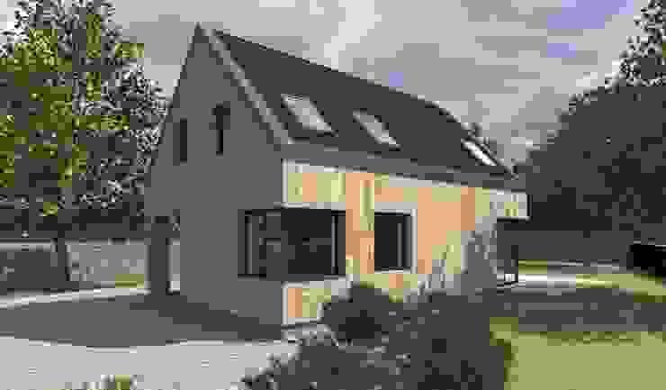 Дома в . Автор – 2L_studio, Скандинавский Дерево Эффект древесины