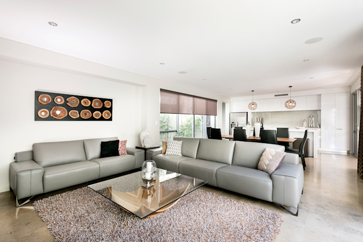 Living Room โดย Moda Interiors โมเดิร์น กระเบื้อง