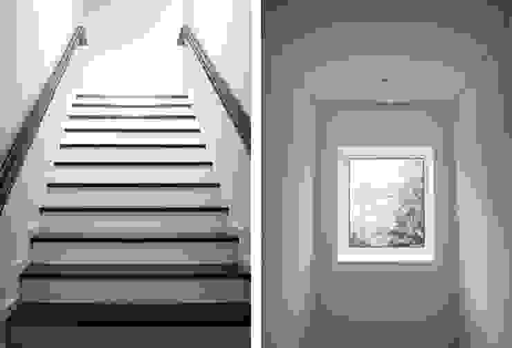 Casa em Lavra, Matosinhos Corredores, halls e escadas minimalistas por ASVS Arquitectos Associados Minimalista