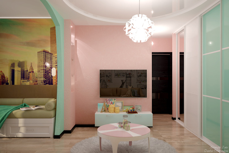 Студия интерьерного дизайна happy.design ห้องนอนเด็ก