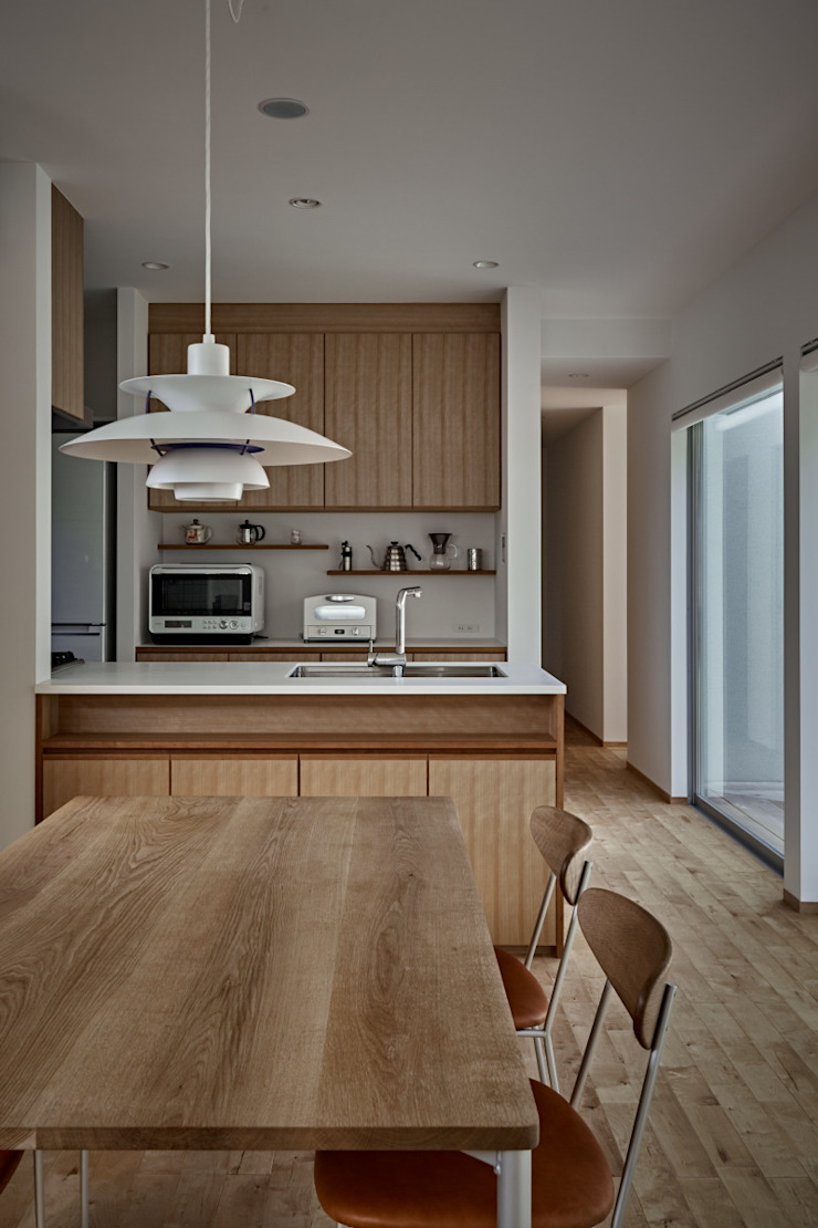 toki Architect design office Modern Dining Room Wood Wood effect