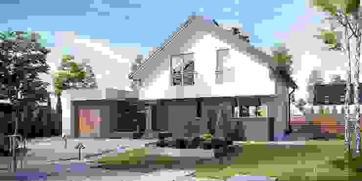 Moderne Häuser von HomeKONCEPT | Projekty Domów Nowoczesnych Modern Beton