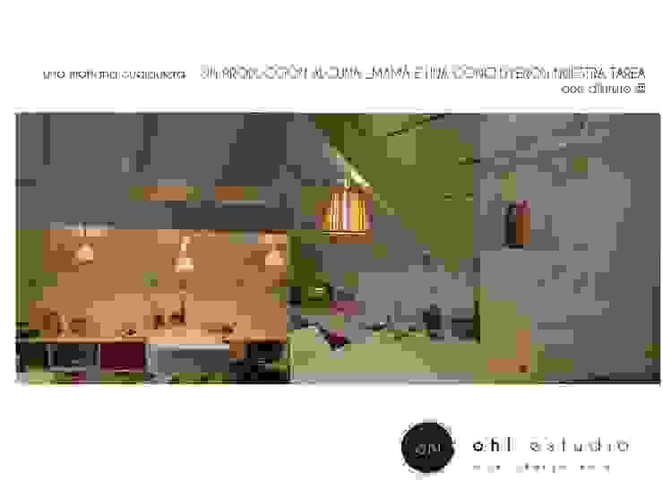 habitación niña en uso Baños modernos de OH! estudio diseño & arquitectura Moderno