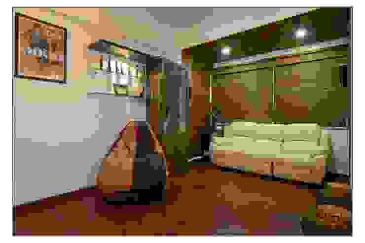 TV room Modern media room by Navmiti Designs Modern