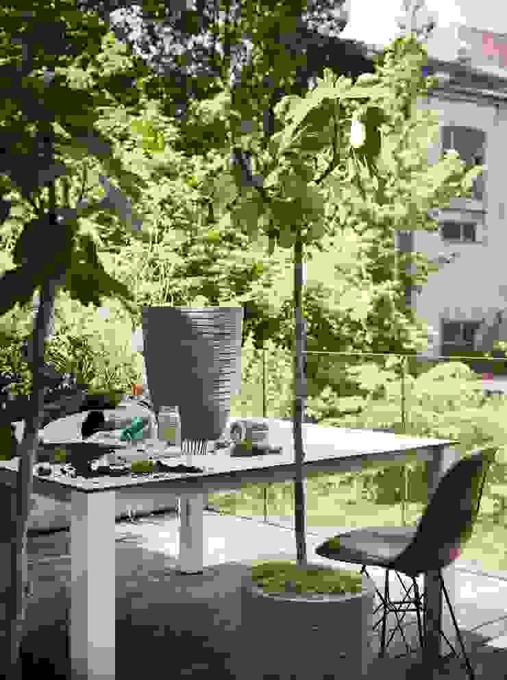 Capi Nature Row - Vase elegant Anthracite by Capi Europe Рустiк Кераміка