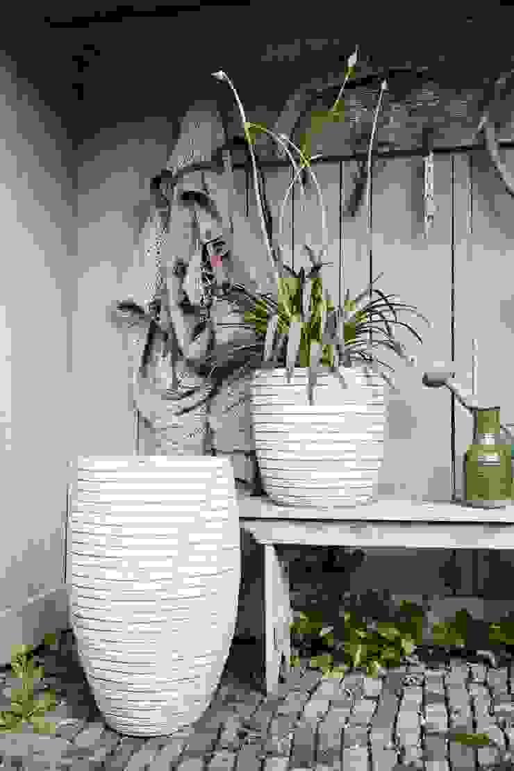 Capi Nature Row - Vase elegant deluxe and Planter ball Ivory by Capi Europe Рустiк Кераміка