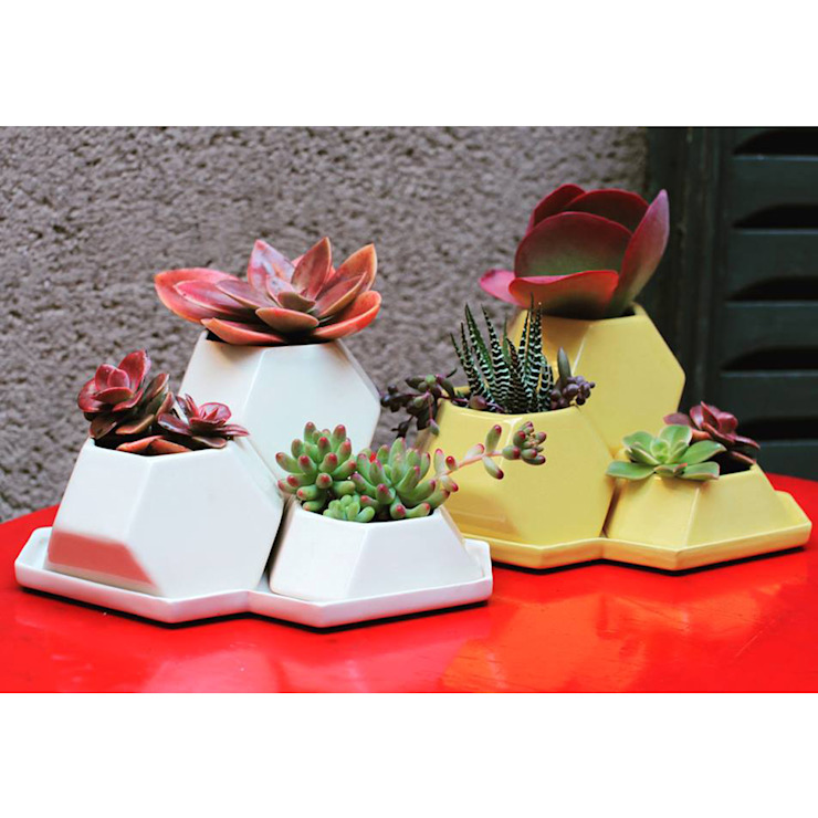 Bizcocho HouseholdPlants & accessories Pottery White