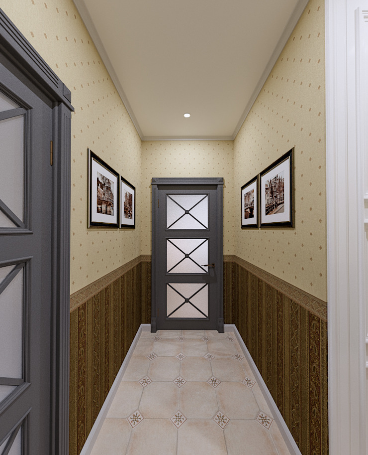 Classic style corridor, hallway and stairs by Ателит Classic