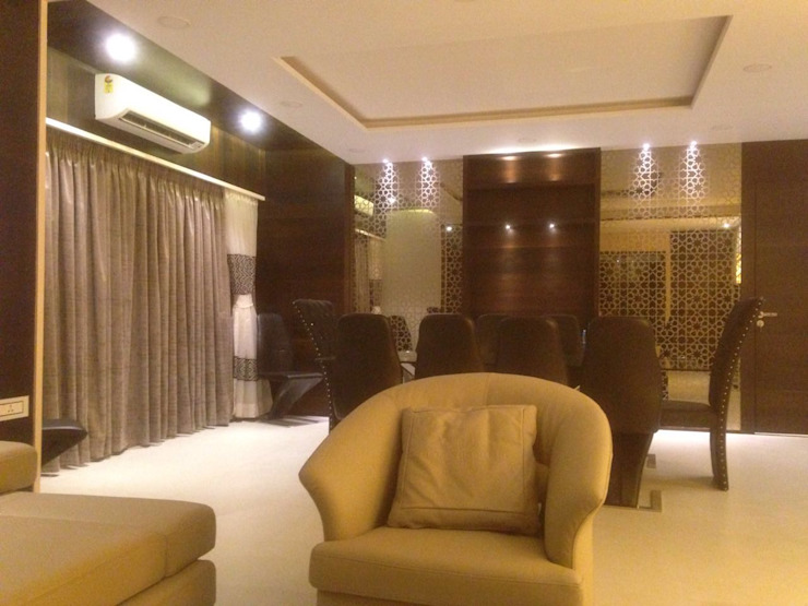 3 bhk apartment by Arctistic design group