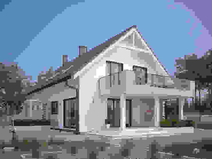 Wizualizacja projektu domu Amarylis 4 Nowoczesne domy od Biuro Projektów MTM Styl - domywstylu.pl Nowoczesny