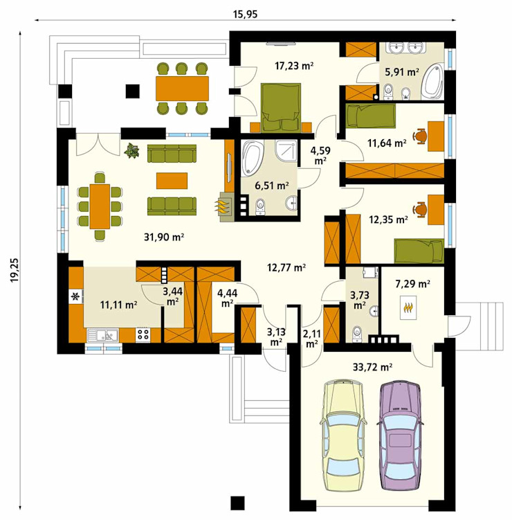 Modern walls & floors by Biuro Projektów MTM Styl - domywstylu.pl Modern
