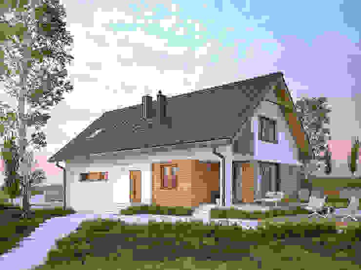 Wizualizacja projektu domu Amarylis Nowoczesne domy od Biuro Projektów MTM Styl - domywstylu.pl Nowoczesny